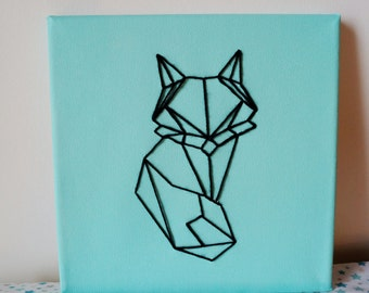 Table origami Mint green embroidered FOX