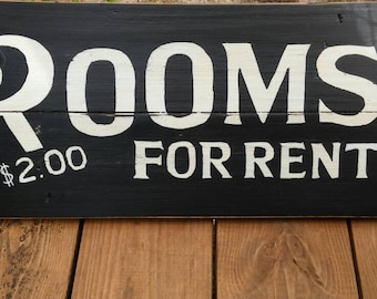 Handmade Rooms For Rent Sign on Reclaimed Wood!