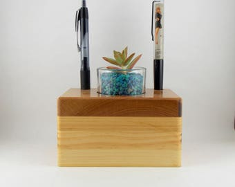 succulent or cactus planter with pen/pencil holder, tea light/candle holder, Paper weight, Mother's Day Gift