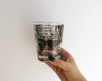 Vintage Yellowstone Souvenir Glass
