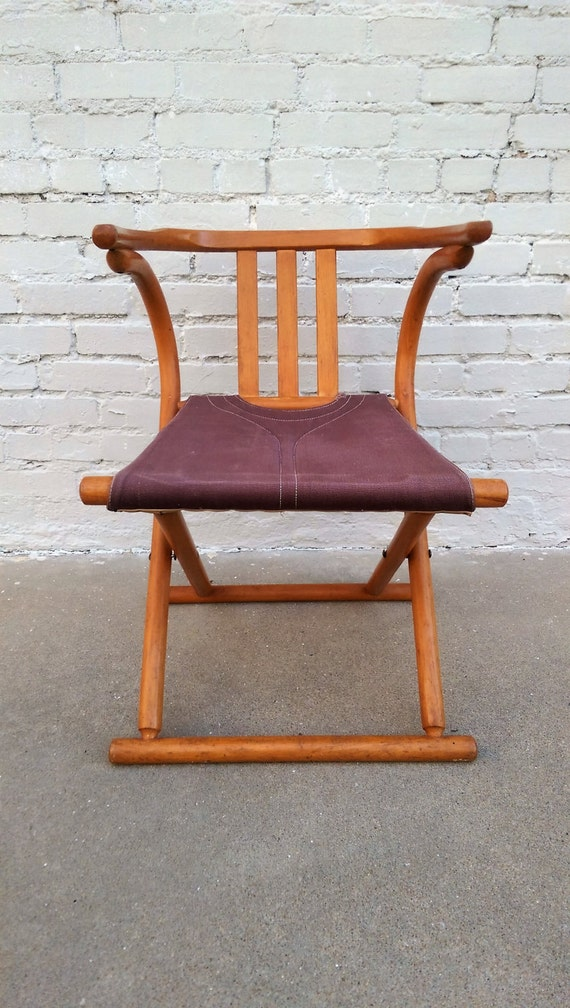 Mid century modern Thonet bentwood folding chair