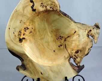 Cottonwood Bowl, Decorative Tray, Wooden Bowl, Log Furniture, Rustic Decor
