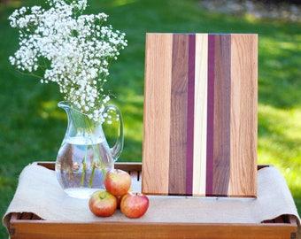 Wood Cutting Board - Oak, Walnut, Ash and Purple Heart Wood