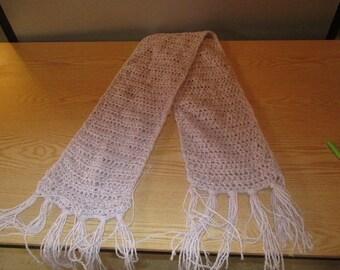 white winter scarf crochet