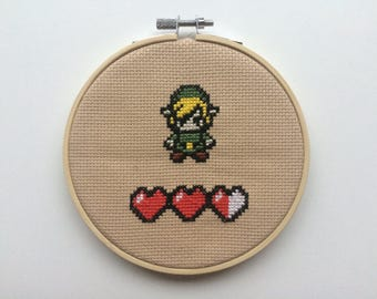 Link from Legend of Zelda Cross stitch
