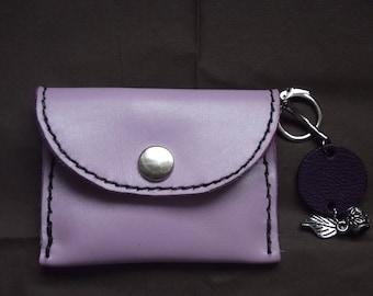 wallet with key integrated door