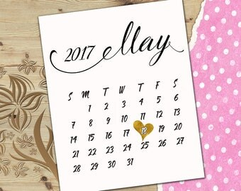 Custom calendar with due date Custom pregnancy calendar Due date reveal calendar Pregnancy reveal calendar Printable calendar C7