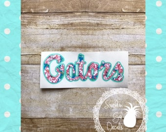 Florida Gators Lilly Inspired Vinyl Decal
