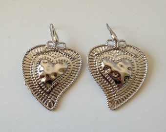 Former earrings vote color, silver, vintage mexican heart