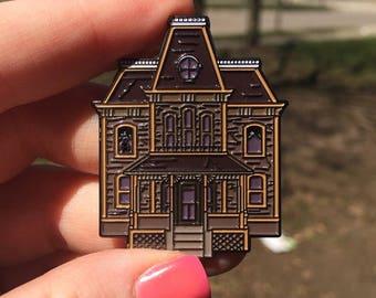 SECONDS Psycho House Enamel Pin