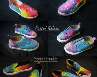 Kids/Baby glow in the dark Galaxy shoes with Glitter