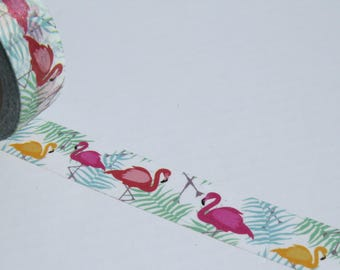 Pretty Flamingos Washi Tape- Flamingo Decorative Masking Tape