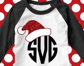 Santa Hat svg, santa hat dxf,eps, Christmas svg, santa claus svg, santa cut file, Christmas dxf, Monogram svg
