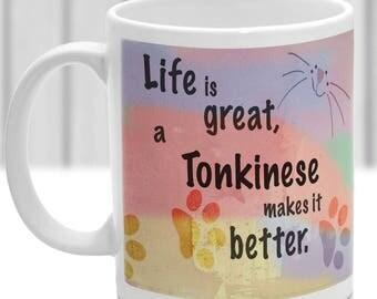 Tonkinese cat mug, Tonkinese cat gift, ideal present for cat lover