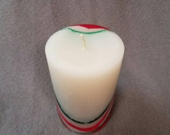 "Peppermint and Eucalyptus - 4.5"" Pillar Candle"