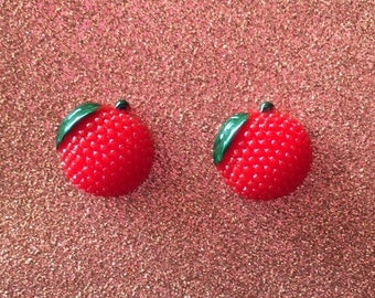 Red Lychee Studs