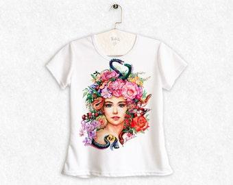 Gorgona, Medusa Head, Mythical Creature, Greek Mythology - Women's t-shirt, my artwork