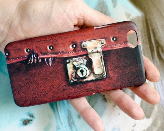 """Caja del teléfono con """"Fantástica bestia dentro"""" dibujo (arreglo para requisitos particulares disponible) / iPhone, Samsung, otros"""