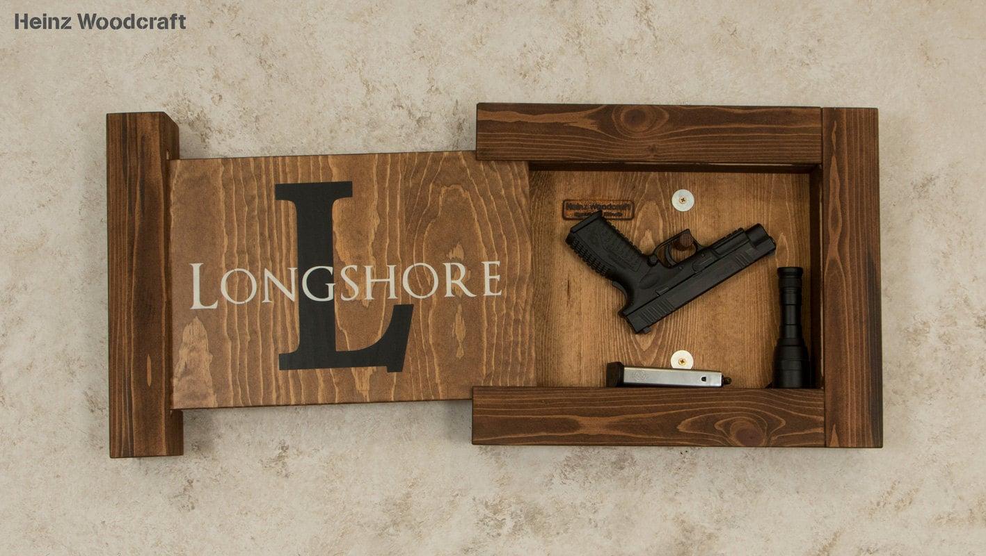 Solid Pine Concealed Gun Storage Hidden