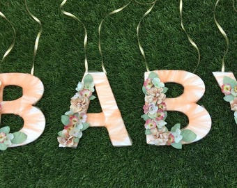 Custom Letter, Party Decor, Decorated Letters