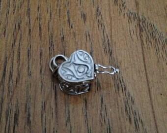 Sterling Silver Heart Locket Charm