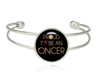 Proud to be an Oncer Cuff Bangle Once upon a time Bracelet Fandom Jewelry Geeky Fangirl Fanboy