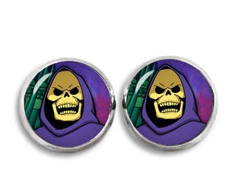 Skeletor Stud Earrings He Man earrings Comics Fandom Jewelry Cosplay Fangirl Fanboy