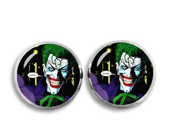 Joker Stud Earrings 12 mm Stud Earrings  Fandom Jewelry  Cosplay Fangirl Fanboy