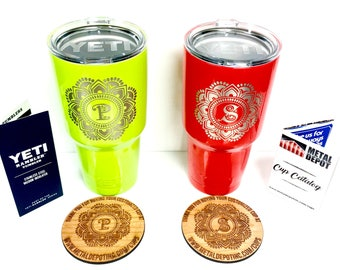 Send us your Yeti 20 oz, Yeti 30 oz, or any Stainless Steel Drinkware for Powder Coating/Laser Etching Personalization!