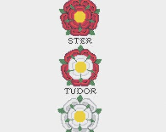 Tudor Rose & War of the Roses Cross Stitch Bell Pull