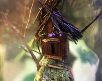 fairy garden, mini diorama, fairy house, nursery decor, bottle terrarium, gifts for girls, woodland baby shower, fairytale decoration