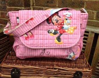 "Handmade baby changing/diaper bag ""Minnie mouse"" new"