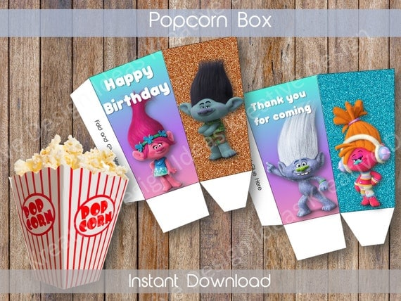 Trolls Personalized Popcorn Tubs