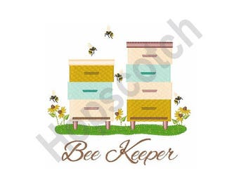 Bee Keeper Boxes - Machine Embroidery Design