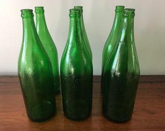 Vintage Large Green Glass Bottles