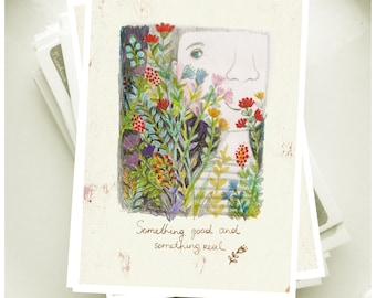 """Postcard from the series """"Something good and something real""""-1"""