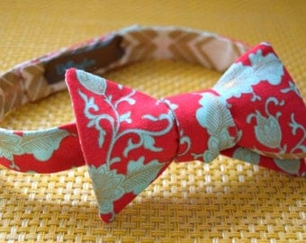 White and Gold/Red and Blue BowTie