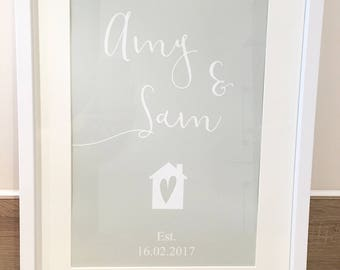 Personalised First Home Print