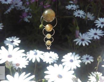 Mineral Labradorite necklace. Own design.