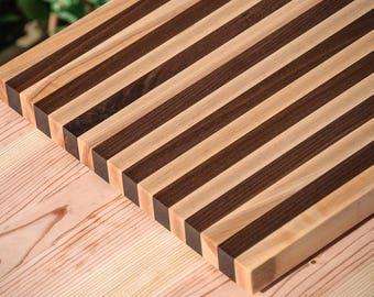 Cutting Board - Maple and Walnut Striped