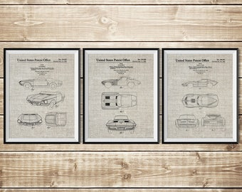 Corvette Decor, Patent Print Group, Sports Car Poster, Chevrolet Decor, Sports Car Patent, Corvette Art, Corvette Patent, INSTANT DOWNLOAD