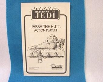 Star Wars Jabba The Hutt Assembley Book