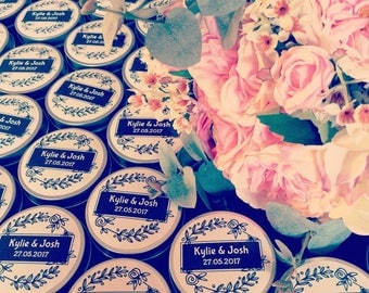 SETS OF 20+ | Wedding Natural Soy Bomboniere Candles