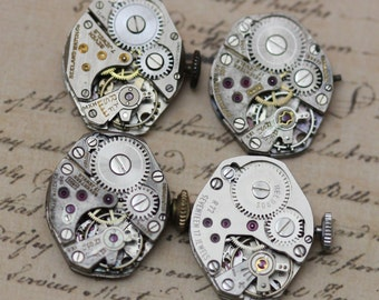 Vintage Watch Movements Lot of 4 Pieces Steampunk Supply US  5230