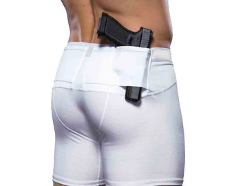Graystone Mens Concealed Carry Holster Compression Shorts Gun Concealment CCW Clothing Two Pockets