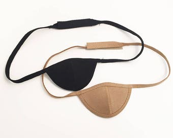 The most luxurious eye patch around.  100% Ultrasuede eye patch with very soft velcro closure for adjustability.