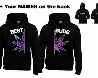 BEST - BUDS GALAXY Hoodies+Your name or other text