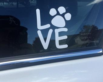 Dog Love Vinyl Decal