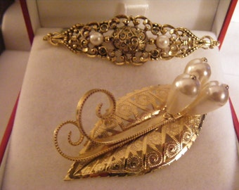 Two Elegant Vintage Brooches