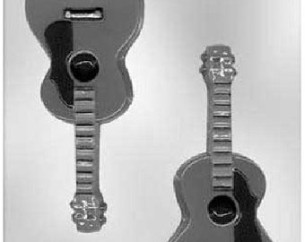 Guitar Chocolate Candy Mold